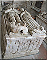 SK6325 : Sir Hugh de Willoughby & wife, Willoughby on the Wolds church by J.Hannan-Briggs