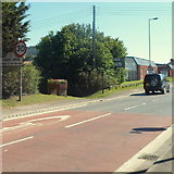 SO4383 : Northern boundary of Craven Arms by Jaggery