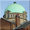 SO9198 : Darlington Street Methodist Church copper dome, Wolverhampton by Roger  Kidd