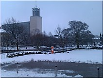 NZ2465 : View towards Newcastle Civic Centre in the snow by David Martin