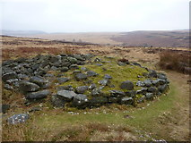 SK2775 : Cairn on Big Moor by Peter Barr