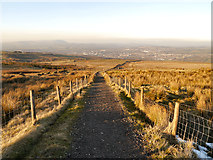 SD8428 : Path towards Burnley from Crown Point by David Dixon