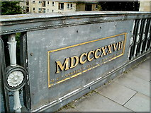 ST7565 : Cleveland Bridge plaque, Bath by Jaggery