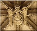 TL9762 : St Mary, Woolpit - Porch boss by John Salmon