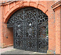 TL4457 : Anne Clough memorial gate, Newnham College by Keith Edkins