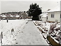 ST3091 : An icy footpath through Pilton Vale, Malpas, Newport by Jaggery