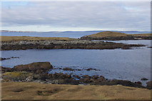 HU6067 : View across Easter Netlar to Sponger Point and Inner Holm of Skaw by Mike Pennington