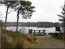 H5776 : Picnic seat at Loughmacrory Lough by Kenneth  Allen