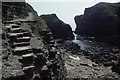 HY5908 : Steps up to the Brough of Deerness by Christopher Hilton