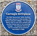 NT0987 : Andrew Carnegie Birthplace Plaque by M J Richardson
