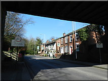 SJ8588 : Cottages and The Ashlea pub, Manchester Road, Cheadle by Peter Barr