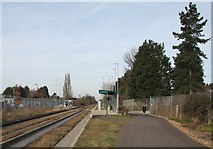 TL4661 : Science Park busway stop by John Sutton