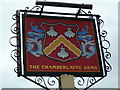 SU4511 : Sign at The Chamberlayne Arms by Shazz