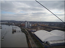 TQ3979 : View of the Millennium Village from the Emirates Air Line by Robert Lamb