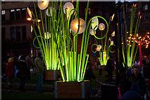 SE1632 : Installation at the Garden of Light - City park, Bradford by Phil Champion
