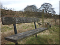 NY6103 : Another memorial bench by the Lune by Karl and Ali