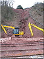 SX9574 : Repairing water damage on cliff above railway, Teignmouth by David Hawgood