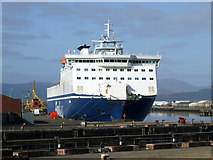 NS3075 : Finnarrow at Great Harbour, Greenock by Thomas Nugent