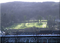 NS3174 : Tesco and Birkmyre Park by Thomas Nugent