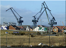 NS3174 : Inchgreen drydock cranes by Thomas Nugent