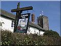 SS8028 : Pub sign, Molland by Roger Cornfoot
