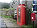 SY5993 : Compton Valence: postbox № DT2 128 and phone by Chris Downer