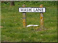 TM5386 : Wash Lane sign by Adrian Cable