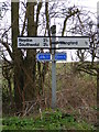 TM4779 : Roadsign on Elms Lane by Adrian Cable
