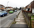 ST2993 : Line of concrete posts, Green Willows, Oakfield, Cwmbran by Jaggery