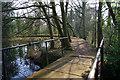 SP0583 : Bridge over the weir, Edgbaston Pool dam by Phil Champion