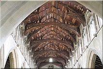 TF4024 : Interior roof, St Mary Magdalene church, Gedney by J.Hannan-Briggs