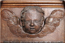 TF4024 : Pulpit carving, St Mary Magdalene church, Gedney by J.Hannan-Briggs