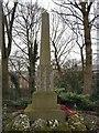 SJ9694 : Godley Hill War Memorial (Left hand side) by Gerald England