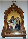 SP4540 : St John the Evangelist, Banbury: 14th Station of the Cross by Basher Eyre