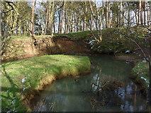 NT6378 : East Lothian Geomorphology : Narrow Neck Meander, Hedderwick Burn by Richard West