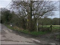 TQ1328 : Public Bridleway by The Saunterer