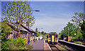 SN8846 : Llanwrtyd station, with Up train by Ben Brooksbank