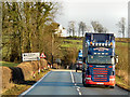 NY0674 : HGV on the A75 by David Dixon