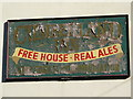 NY7146 : Sign on The Cumberland Hotel, Station Road by Mike Quinn