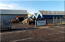 ST3386 : Entrance to a Caswell Way construction site Newport by Jaggery