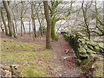 SE0721 : Elland Footpath 51 off Dog Lane by Humphrey Bolton