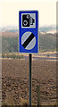 NT6127 : A speed camera warning sign on the A68 at Lilliardsedge by Walter Baxter