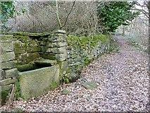 SE0721 : Trough on footpath off Cat Lane by Humphrey Bolton