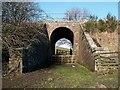 NT3760 : A railway bridge at Borthwick by Walter Baxter