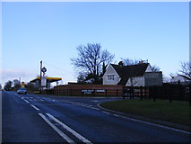 TM4069 : A12 Main Road & the entrance to Darsham Nurseries by Adrian Cable