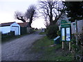 TM4469 : Footpath to White's Lane & Yoxford Road & entrance to St.Peter's Church by Geographer