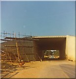 SU5407 : Newly constructed bridge in Fontley Road by Peter Shimmon