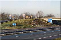 NY3366 : M6 Junction 45 (Gretna) by David Dixon