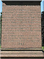 SP0892 : West inscription, Old Meeting House re-interments, Witton Cemetery by Robin Stott