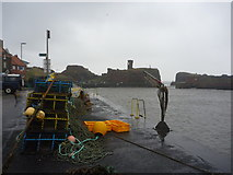 NT6779 : Coastal East Lothian : A Rough Morning At Victoria Harbour, Dunbar by Richard West